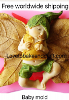 Baby mold, Elf mold, Pixie mold, Polymer clay, Free worldwide shipping. (1)